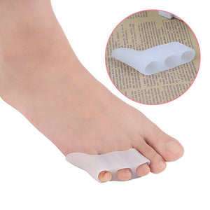 5 Pair of Silicone Toe Separator Hallux Valgus Overlapping Toe Correctors Corrective Pads Toe Braces Holders
