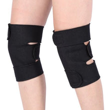 1 Pair Tourmaline Self-heating Magnetic Therapy Protective Knee Brace