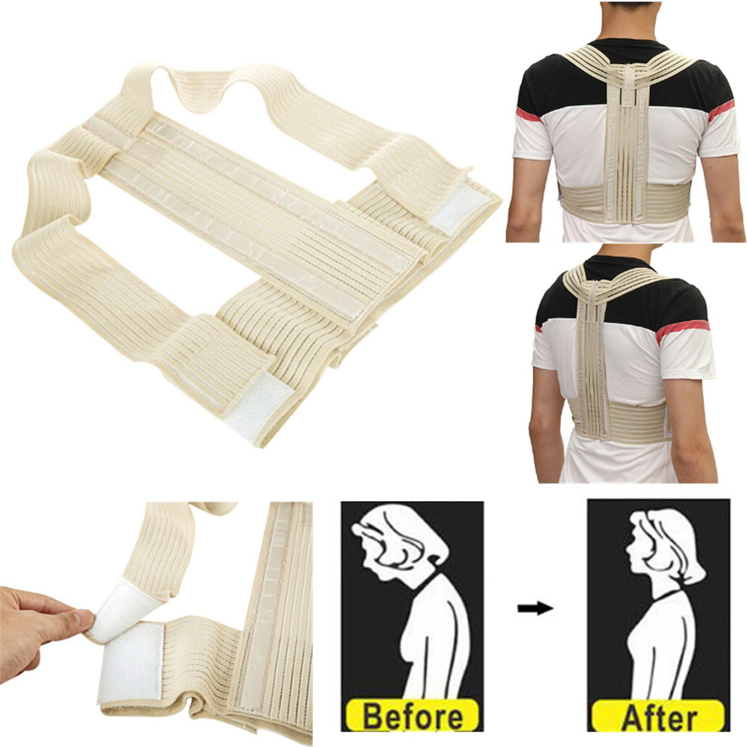 Unisex Adjust Posture Back Corrector Support Brace Belt Therapy Shoulder Band