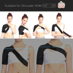 Shoulder Brace Support Wrap AC Joint Rotator Cuff Brace for Women Lightweight