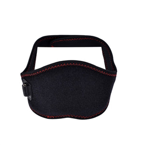 Infrared Electronic Neck Massage Heating Belt Neck Massager Neck Guard USB Powered Self-heating Belt (Black)