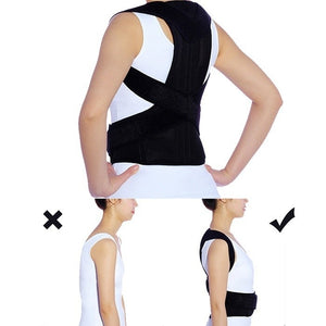 2 Metal Panels Posture Corrector Belt Working Back Brace Corrector Support Shoulder