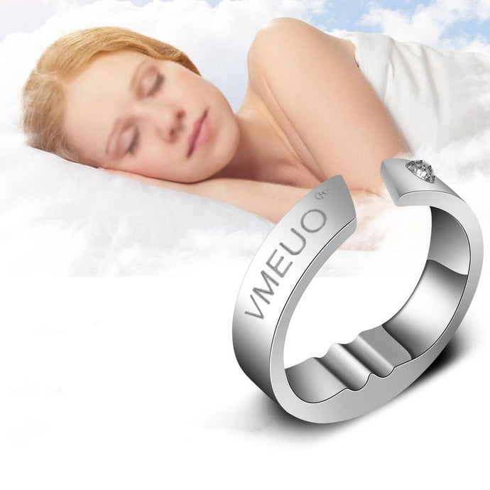 Anti Snoring Ring Stopper Sleeping Breath Aid Acupressure Treatment Stop Snore Device
