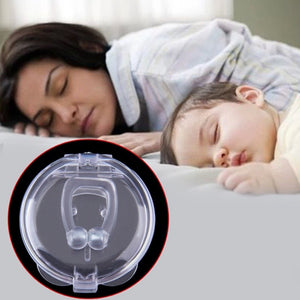Silicon Stop Snoring Nose Clip Anti Snore Sleep Apnea Aid Device Night Tray