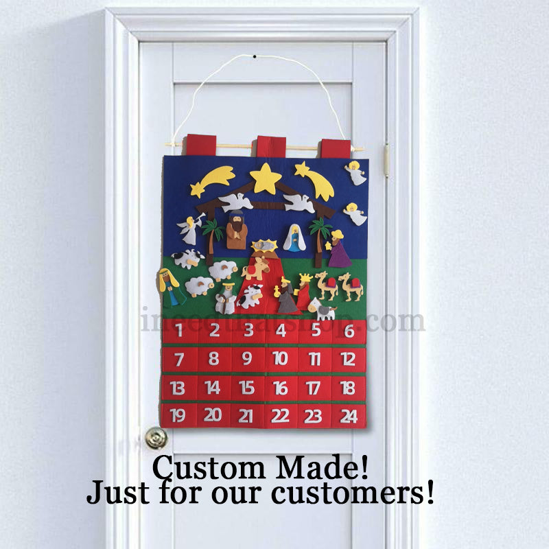 Nativity Themed Advent Calendar - Free Shipping!