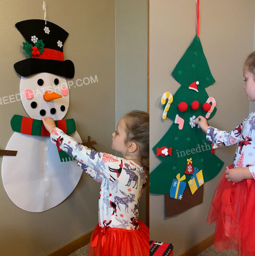 Felt Christmas Snowman or Tree Set (Free Shipping!)