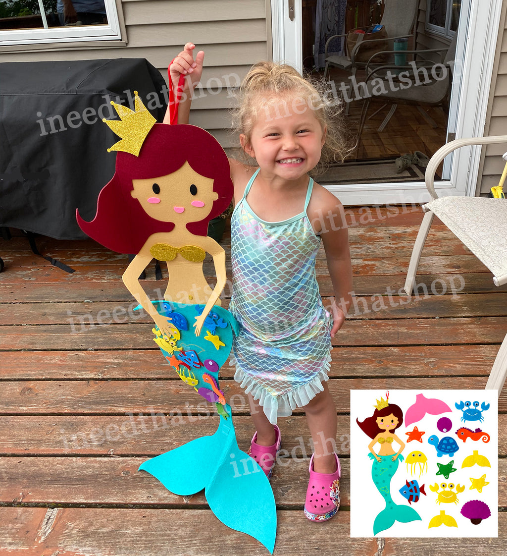 NEW! Molly the Felt Mermaid for Kids **Free Shipping from USA**
