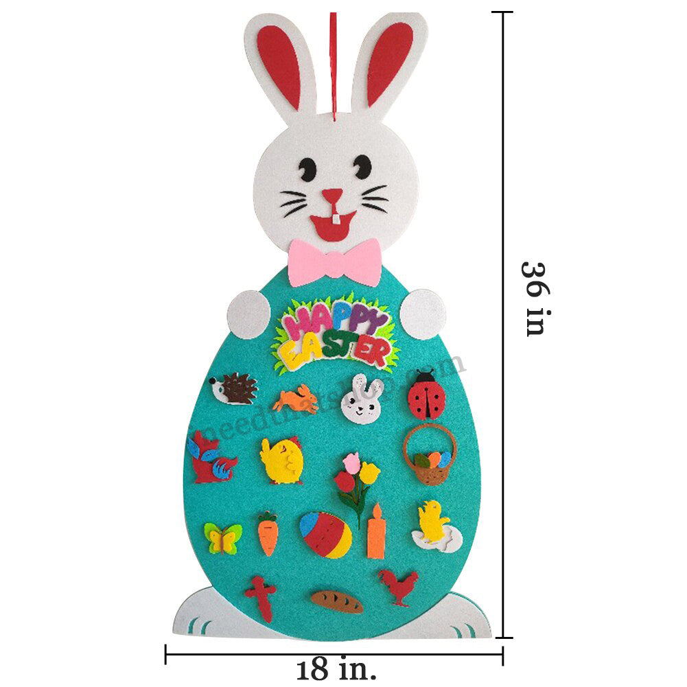 Felt Bunny with Decorations (FREE SHIPPING!)