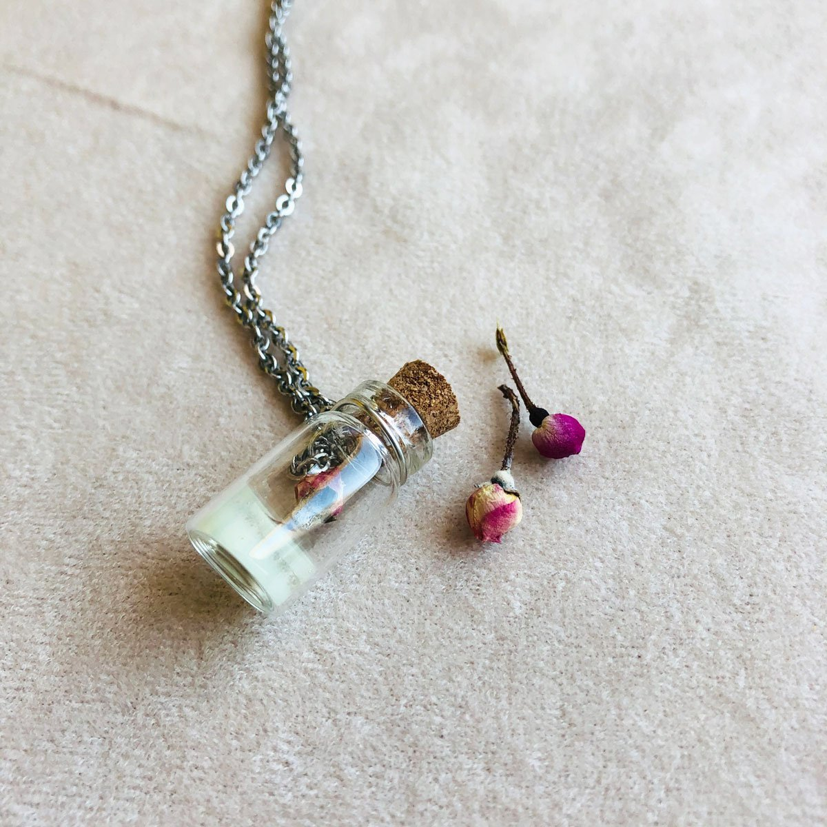 Spring | Mini rose in a glass bottle