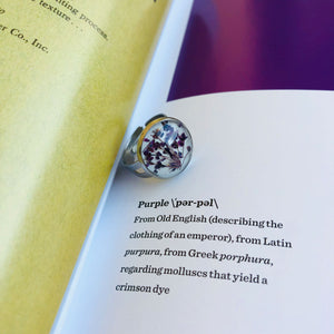 Purple | Baby's breath ring