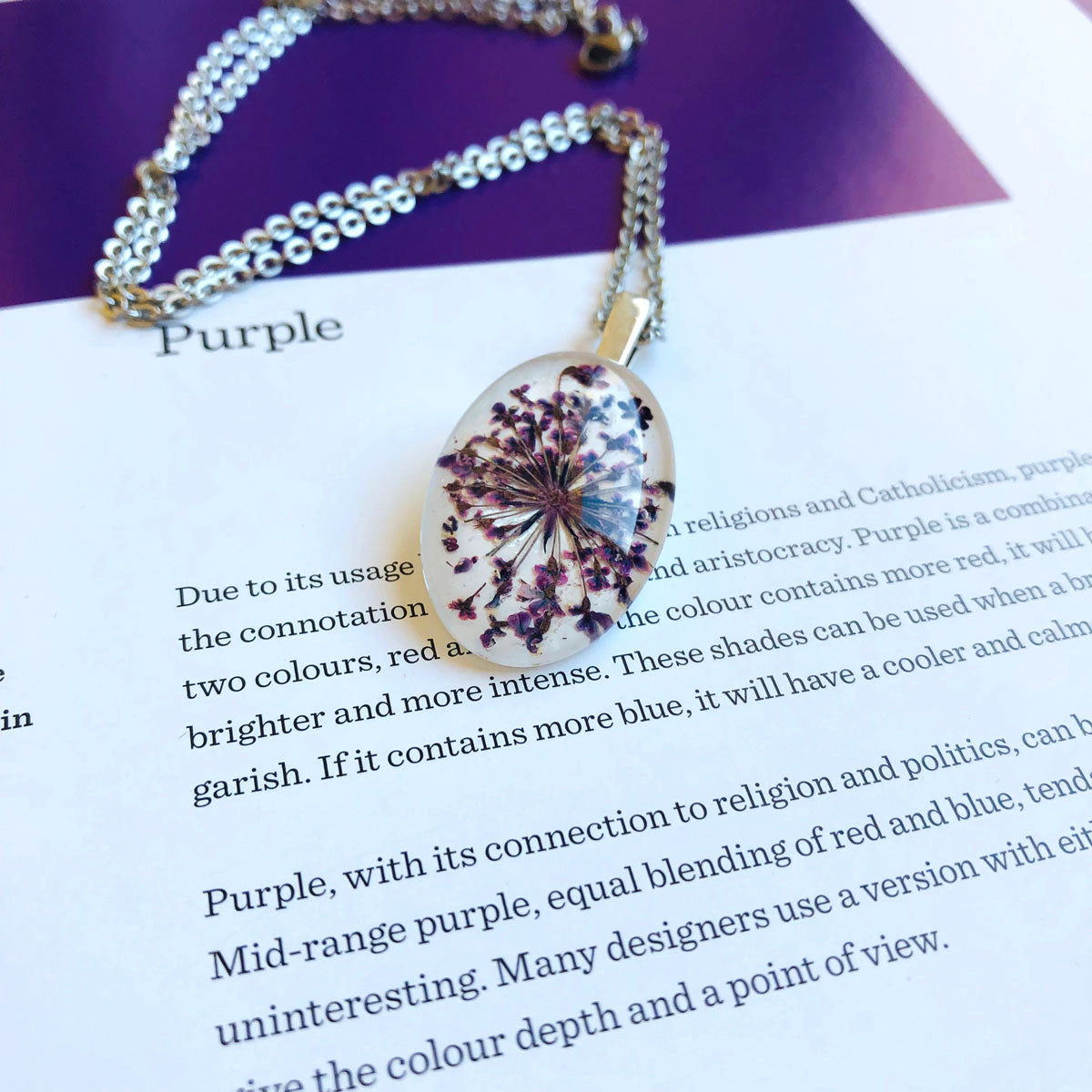 Purple | Baby's breath necklace