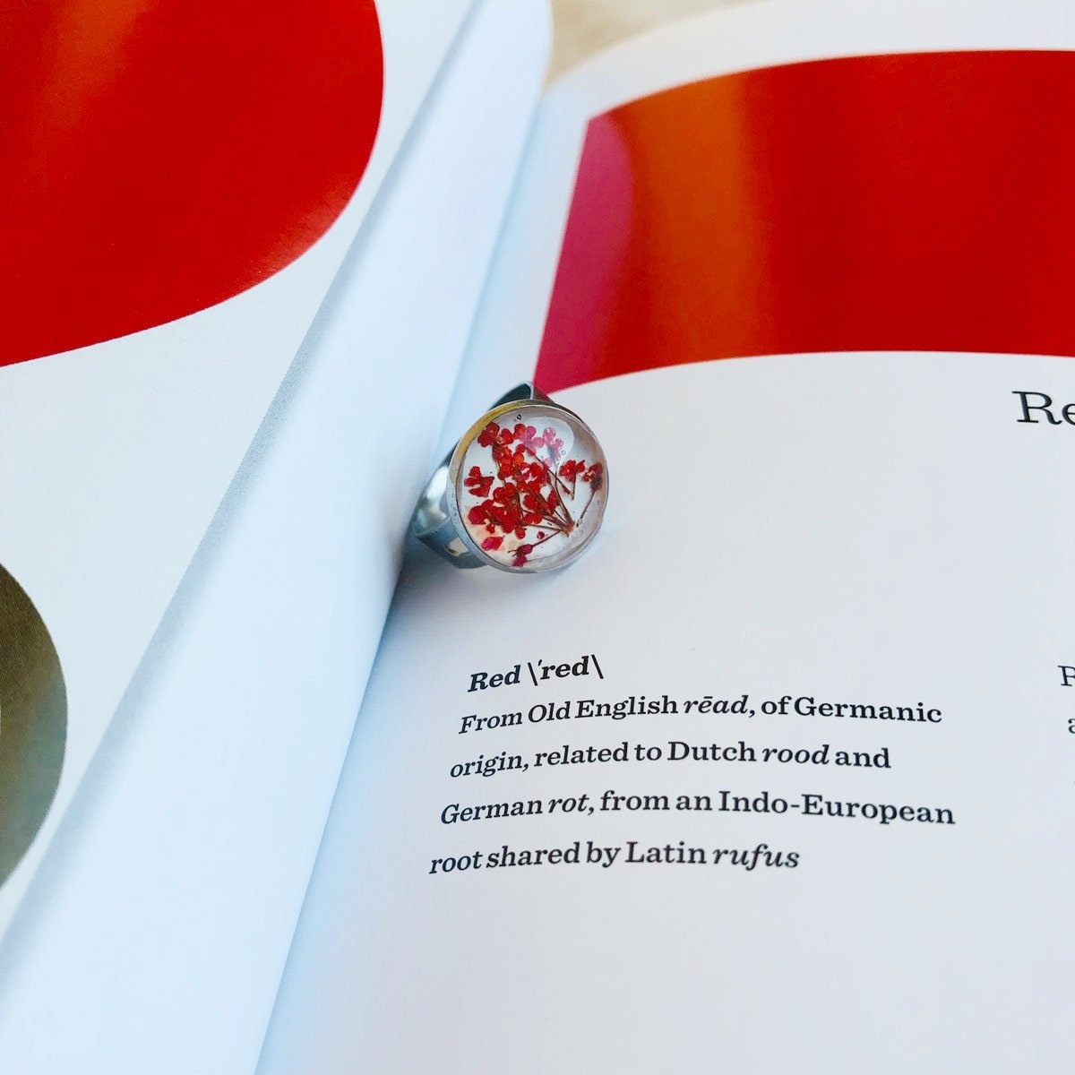 Red | Baby's breath ring