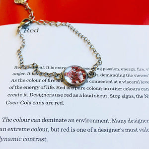 Red | Baby's breath bracelet