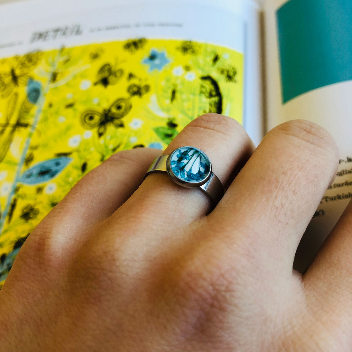 Blue | Baby's breath ring