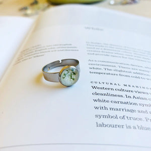 White | Baby's breath ring