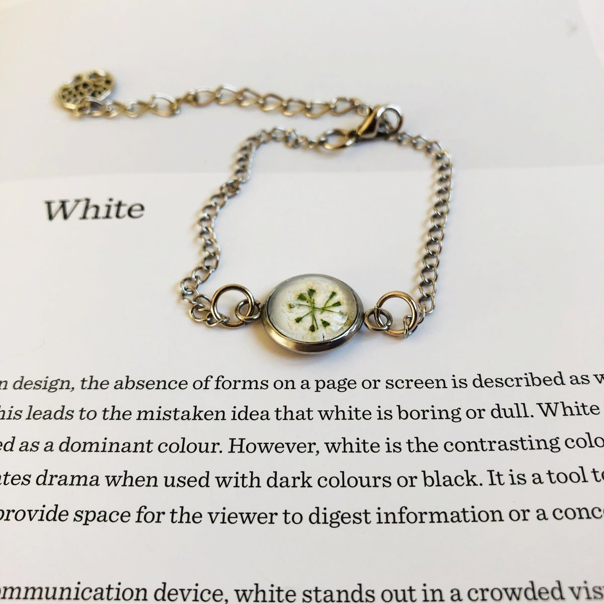 White | Baby's breath bracelet