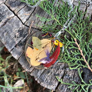 Forest leaves necklace