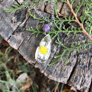 Daisy necklace with Amethyst