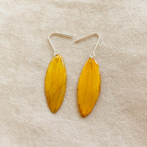 Tulip petal earrings