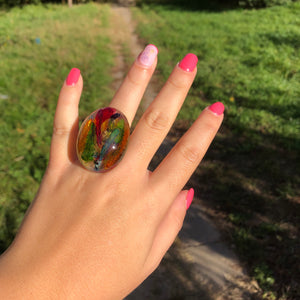 Floral colourful ring