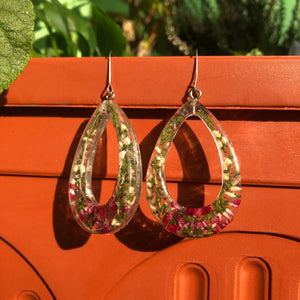Earrings from Erica flower