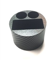 JWraps Cup Holder Insert Exclusively For E-Fusion DNA 200/DUO DNA by Lost Vape MOD E-Cigarette (E-Cig) Vaporizer with 2-22/24mm Accessory Slots and Wrapped in Black Carbon Fiber Wrap