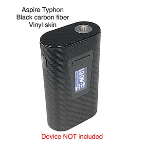 Aspire Typhon Mod skin wrap Black Carbon Fiber Textured skin by Jwraps