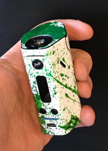 Wismec RX200 Skin Wrap Green White Blood S512 by Jwraps