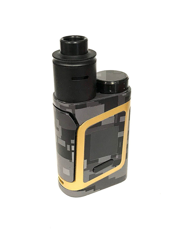 Smok Alien AL85 skin wrap Black Gray digital Camo by JWRAPS