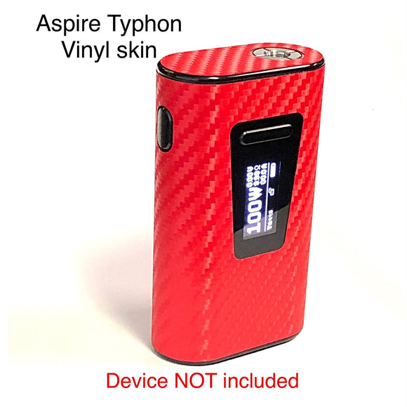 Aspire Typhon Mod skin wrap Red Carbon Fiber Textured skin by Jwraps