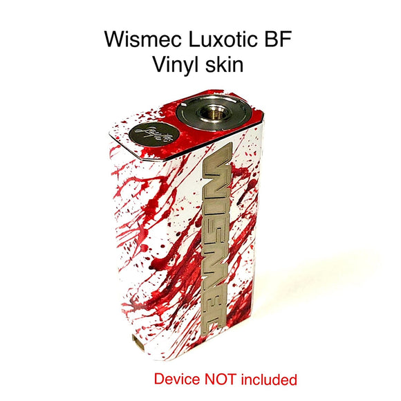 Wismec Luxotic BF Skin Wrap White Red Blood S510 by Jwraps