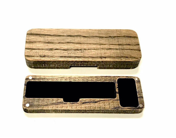 Pax Era mod vape distressed wood travel case stand by Jwraps