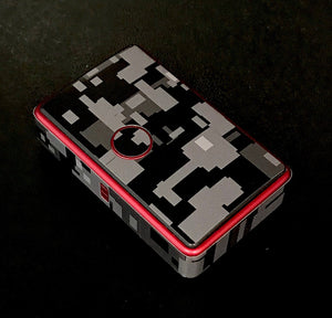 Billet Box Rev 4 skin wrap black gray camo by JWRAPS