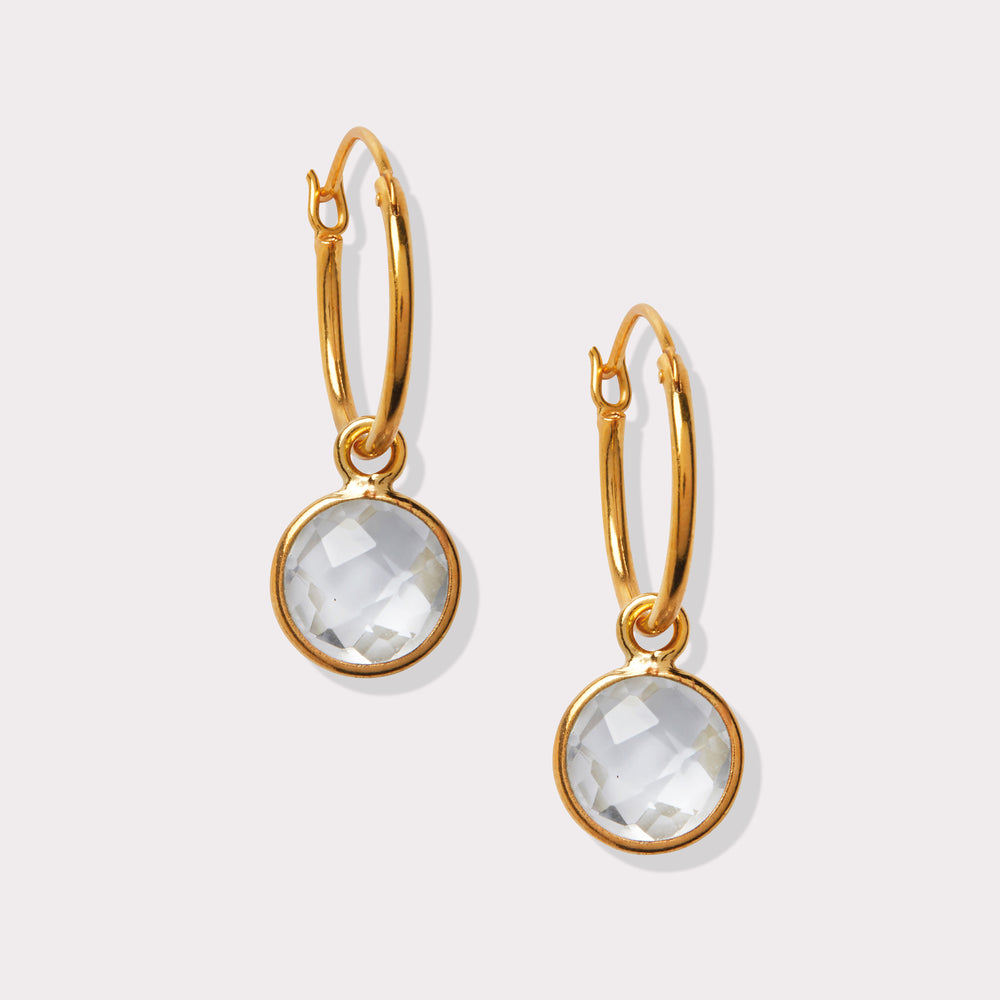 Load image into Gallery viewer, Clear Quartz Earrings