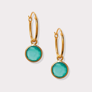 Load image into Gallery viewer, Green Onyx Earrings