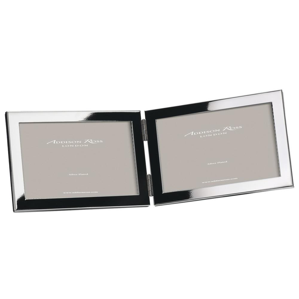 15mm Double Silver Frame with Squared Corners (landscape) - Addison Ross Ltd UK