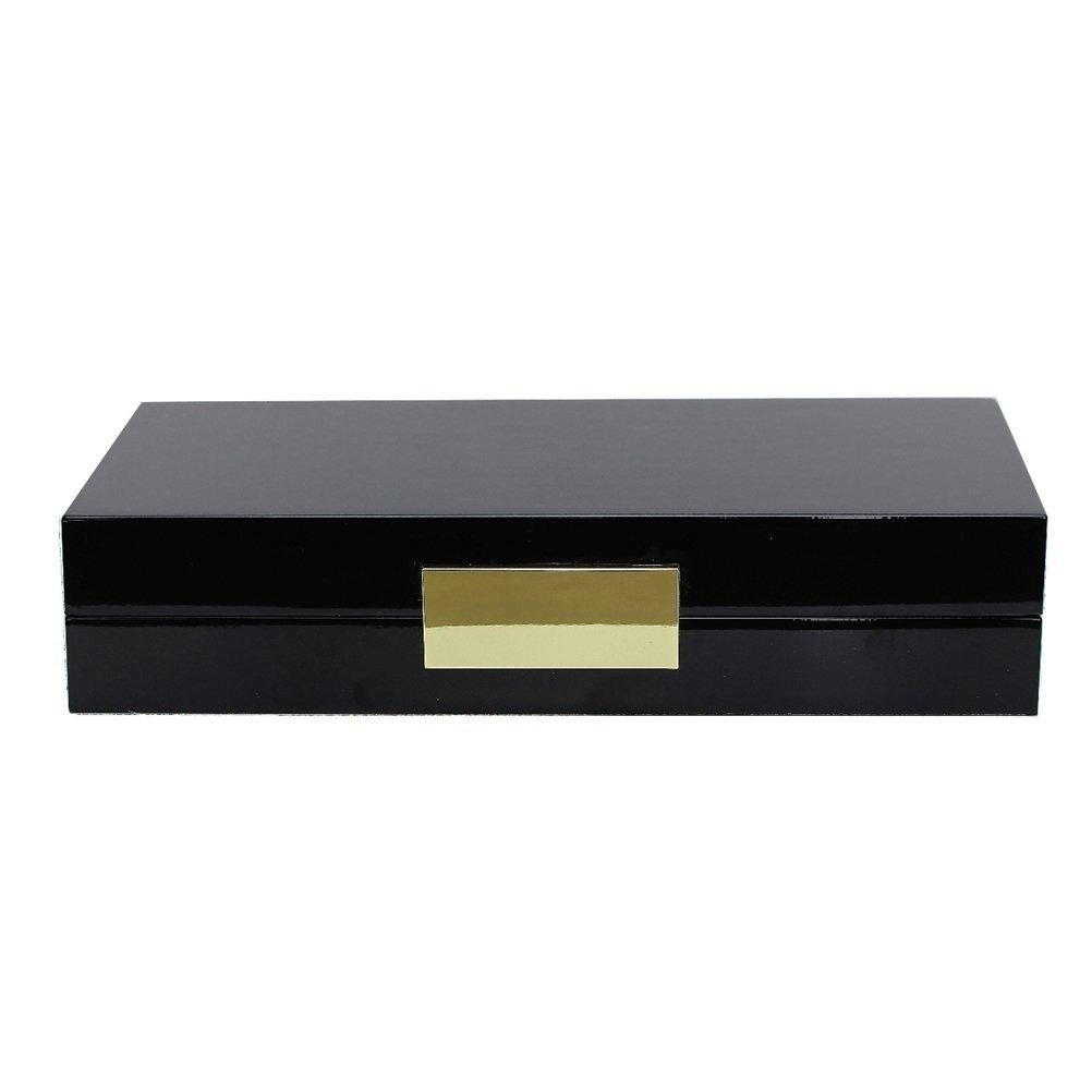Black Lacquer Box With Gold - Addison Ross Ltd UK