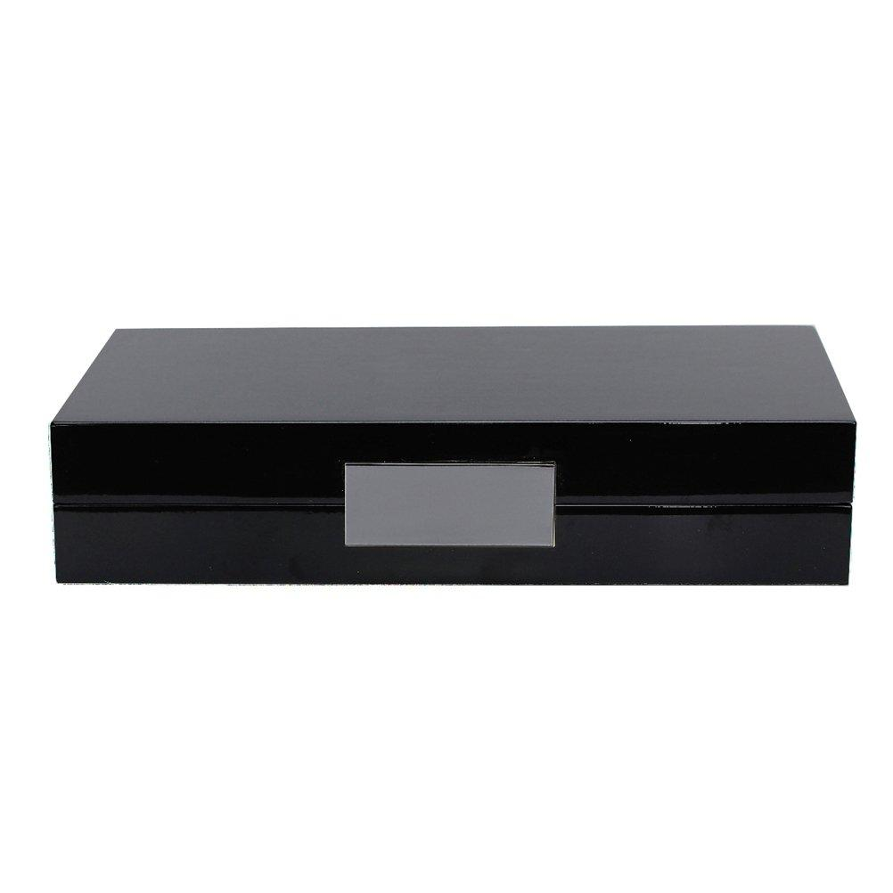 Black Lacquer Box With Silver - Addison Ross Ltd UK