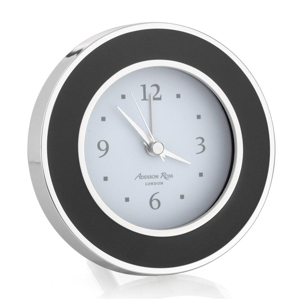 Black & Silver Alarm Clock - Addison Ross Ltd UK