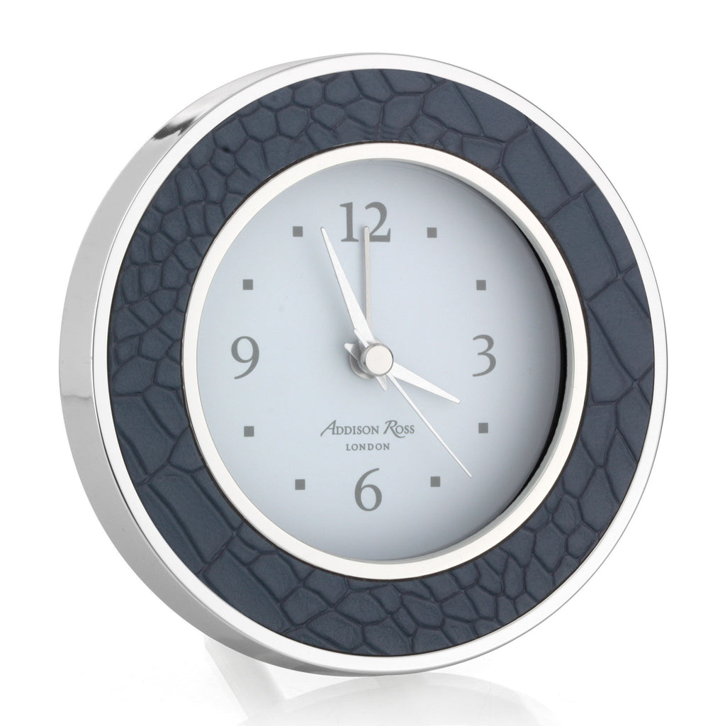 Blue Croc Silver Silent Alarm Clock - Addison Ross Ltd UK