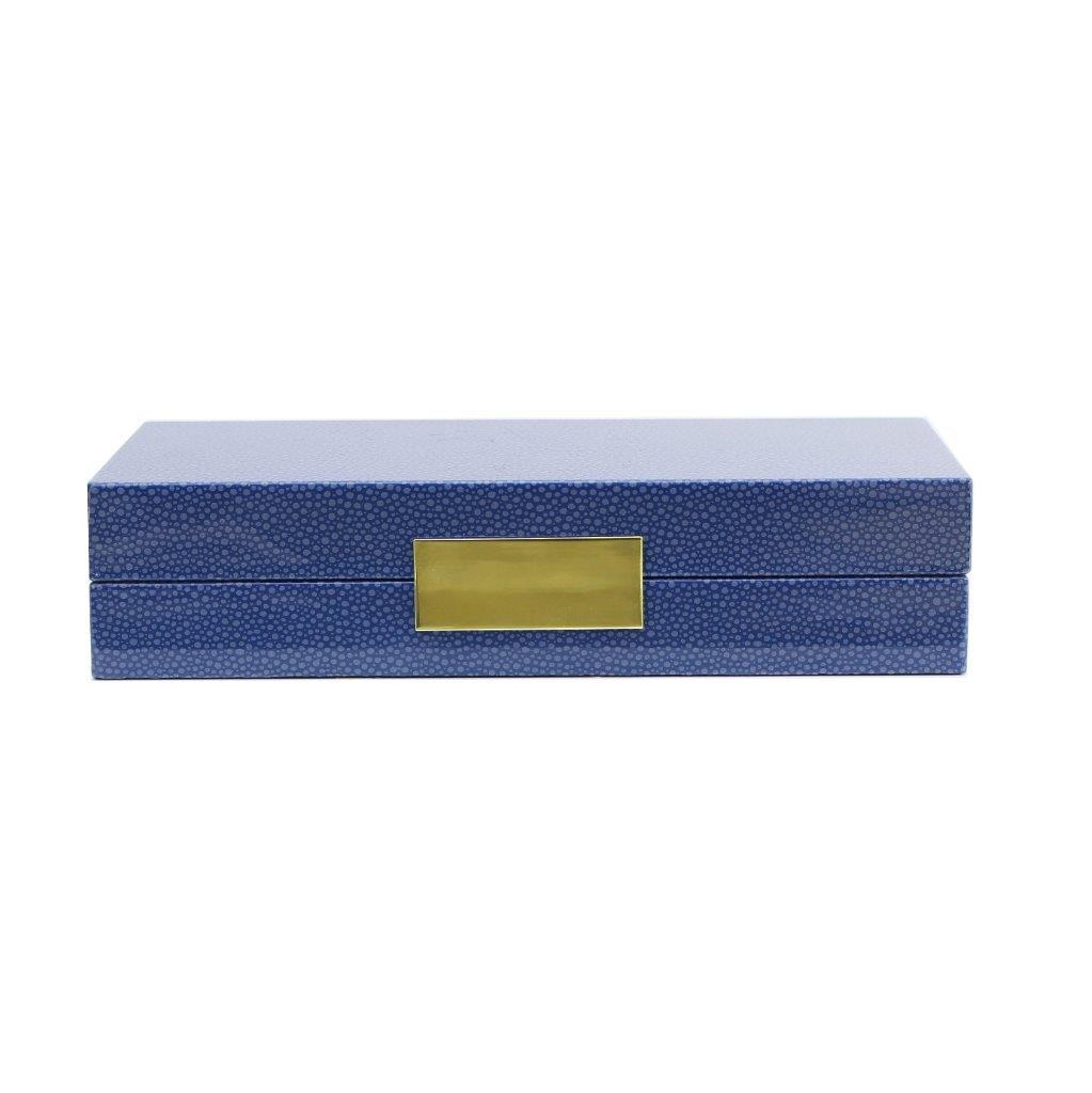 Blue Shagreen Box With Gold - Addison Ross Ltd UK