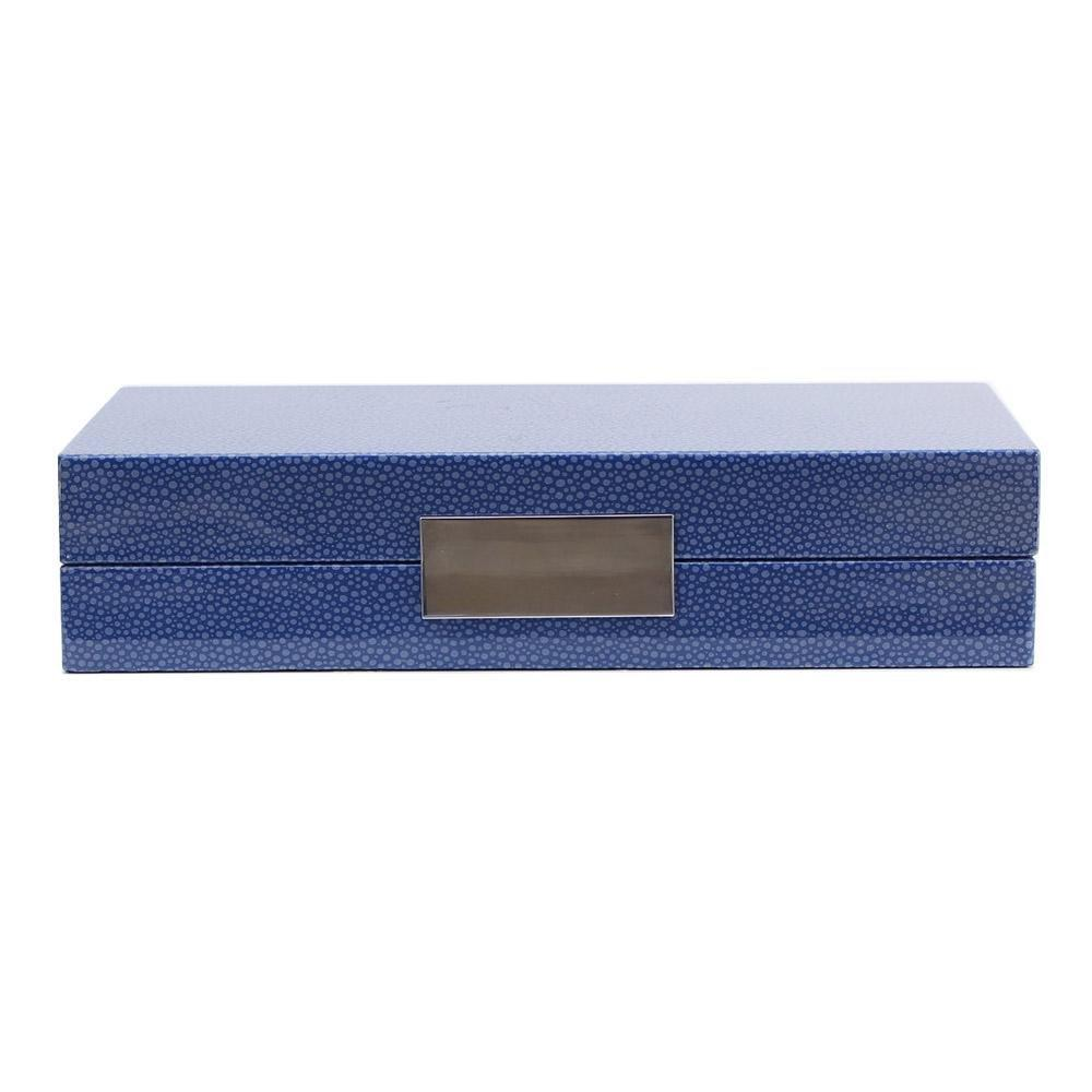 Blue Shagreen Box With Silver - Addison Ross Ltd UK