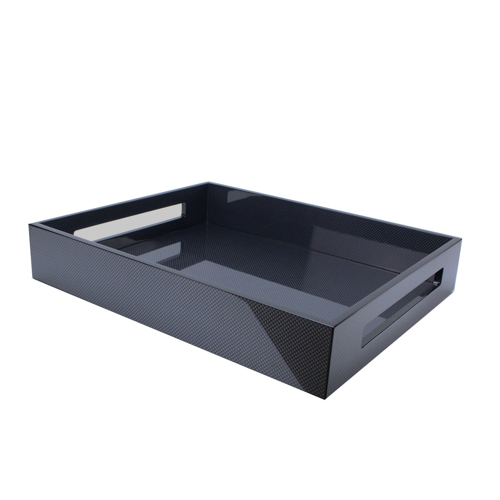 Carbon Fibre Medium Lacquered Serving Tray - Addison Ross Ltd UK