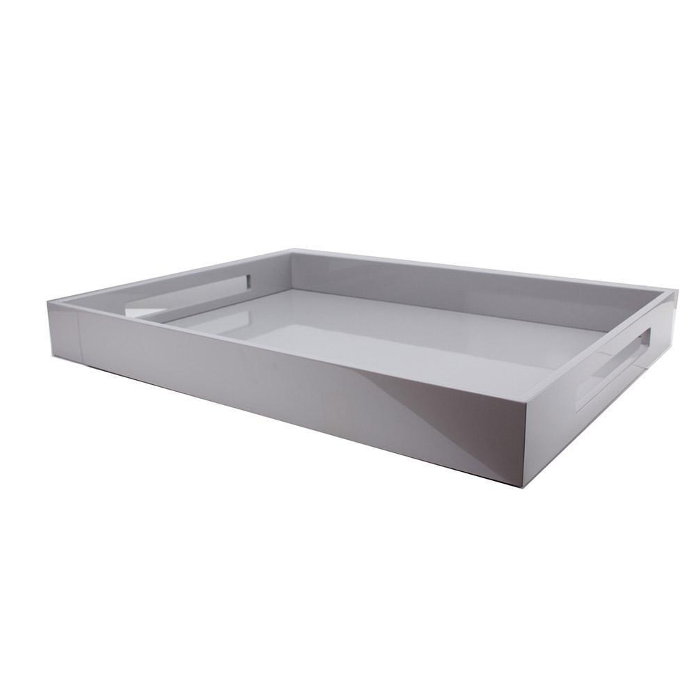 Chiffon Grey Large Lacquered Ottoman Tray - Addison Ross Ltd UK