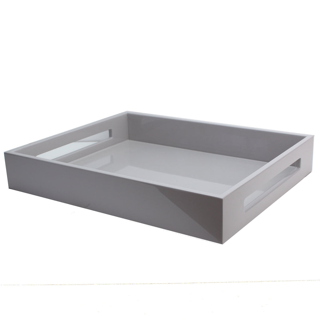 Chiffon Grey Medium Lacquered Serving Tray - Addison Ross Ltd UK