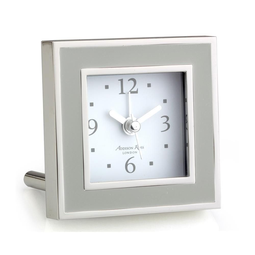 Chiffon & Silver Square Alarm Clock - Addison Ross Ltd UK