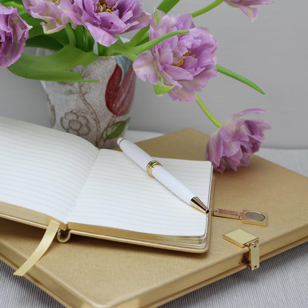 Gold & Gold A5 Notebook - Addison Ross Ltd UK