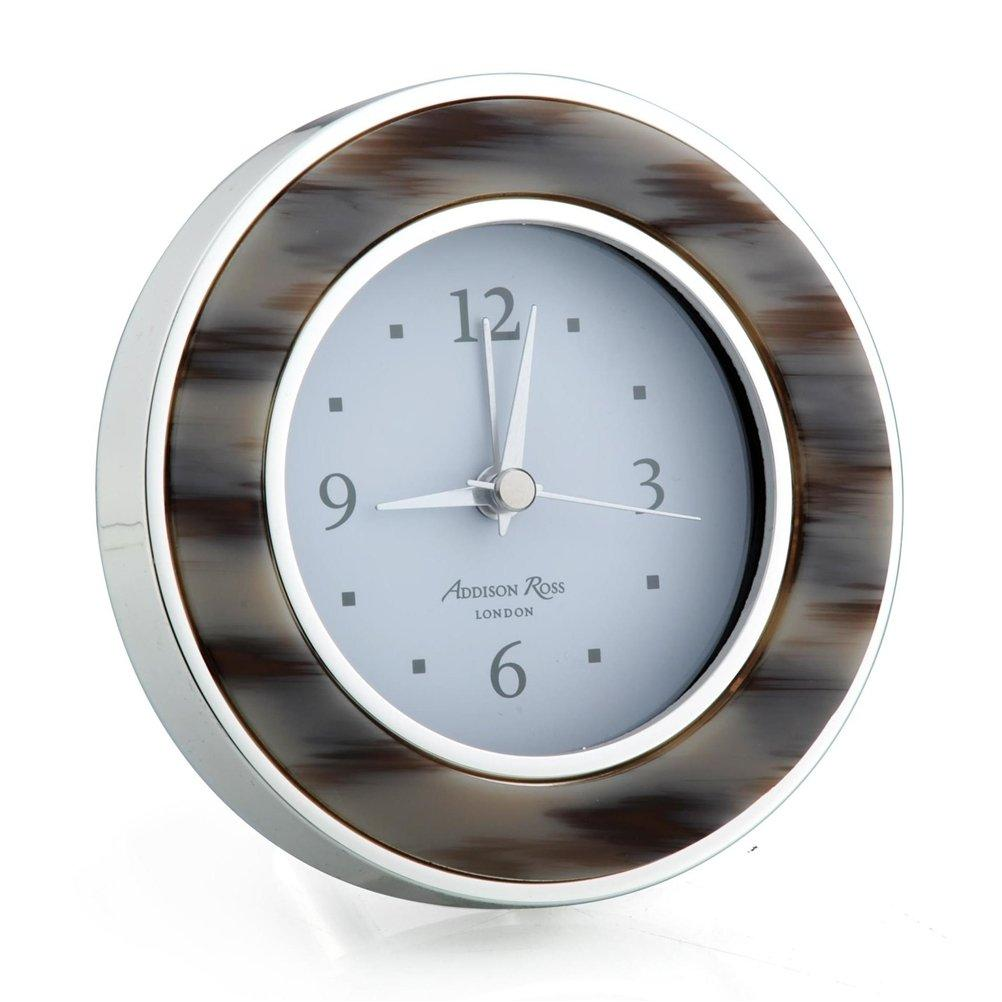 Grey Horn & Silver Alarm Clock - Addison Ross Ltd UK