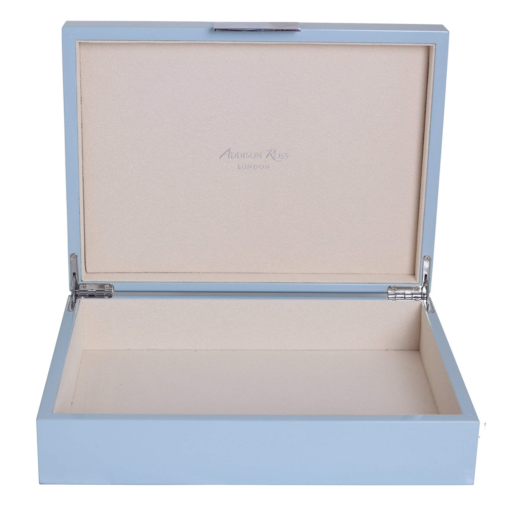 Large Pale Denim & Silver Box - Addison Ross Ltd UK