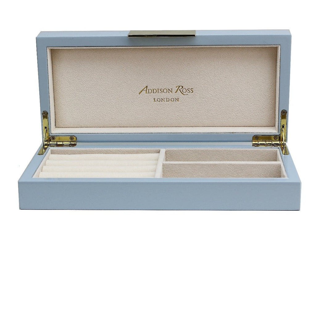 Light Blue Lacquer Box With Gold - Addison Ross Ltd UK